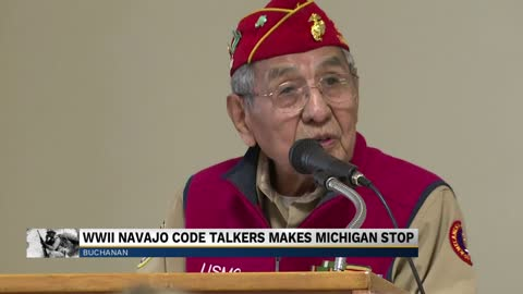 WWII Navajo Code Talker makes Michigan stop